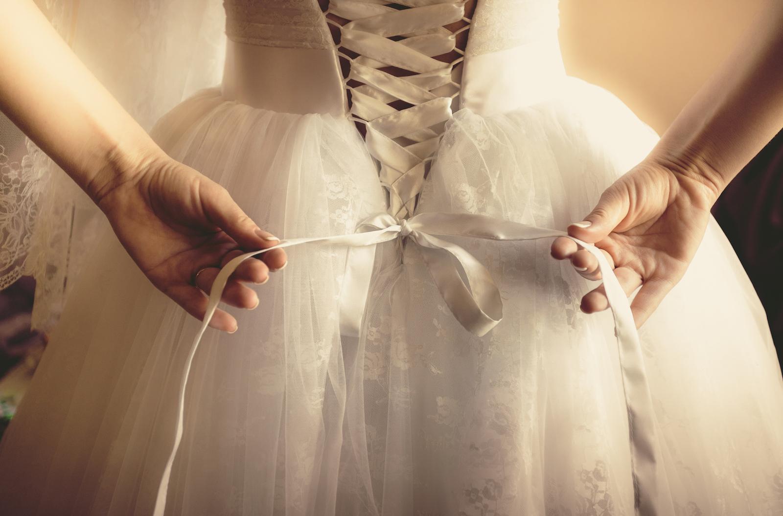 Braut vor der Hochzeit
